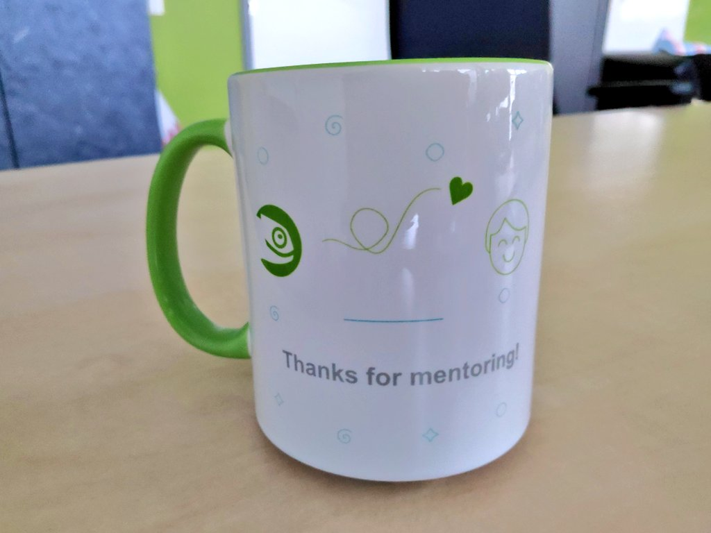 "GSoC ""Trhank you"" mug, thanks for mentoring"